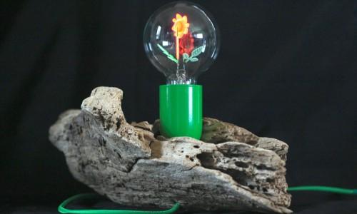 """Lampe """"Fleur verte"""" JML"""